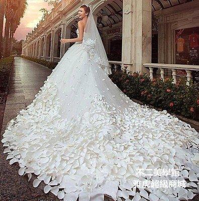 【格倫雅】^名門新娘 手工花瓣 婚紗禮服 婚紗 大拖尾婚紗禮服 A991 晚禮2332
