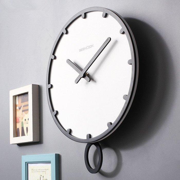 〖洋碼頭〗北歐鐘錶家用創意掛鐘時尚個性現代簡約客廳藝術裝飾掛表時鐘鐘擺 xtm147