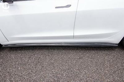 《※台灣之光※》TESLA 特斯拉 Model 3 SR LR Performance 高品質真空碳纖維卡夢側裙定風翼