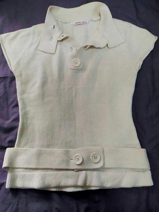 H2O SPORTS米白色棉針織上衣 厚款