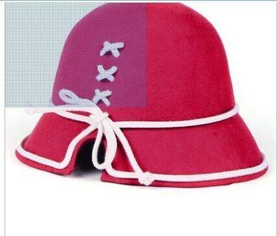 帽子女春秋冬時尚韓版裝飾復古禮帽英倫百搭羊毛呢圓頂漁夫盆帽子