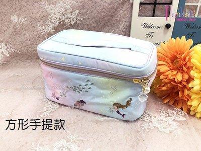 ☆[Hankaro]☆流行可愛刺繡美人魚方形手提化妝包