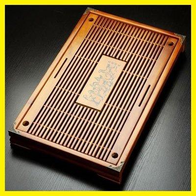 功夫茶具配件抽屜式家用排水茶盤實木大號小號儲水茶托盤茶海茶臺第