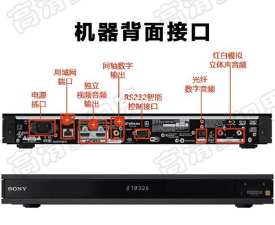 Sony\/索尼 UBP-X1100ES 4K UHD 3D藍光機播放器DVD影碟機中文全區