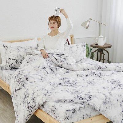 [SN]#U103#細磨毛雲絲絨3.5x6.2尺單人床包被套三件組-台灣製/天絲絨