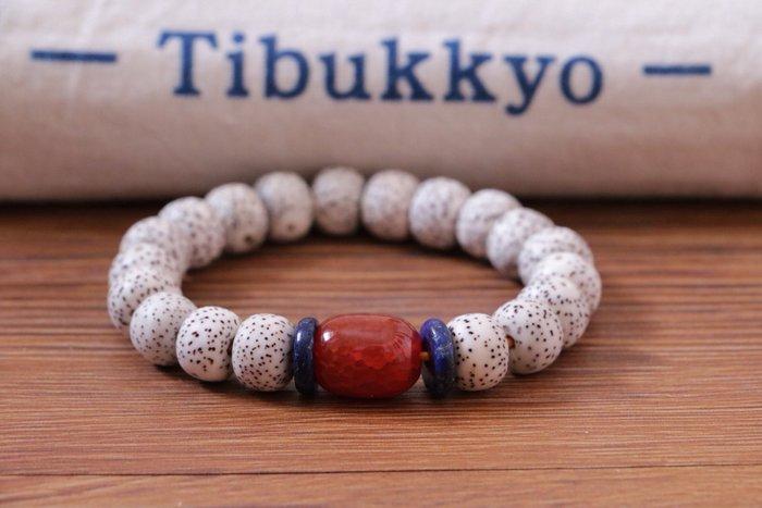 Tibukkyo 星月菩提 海南元寶籽 A+ 10x8 桶珠 手珠 紅玉髓 乾磨 高密正月 青金 星月 菩提子 海南