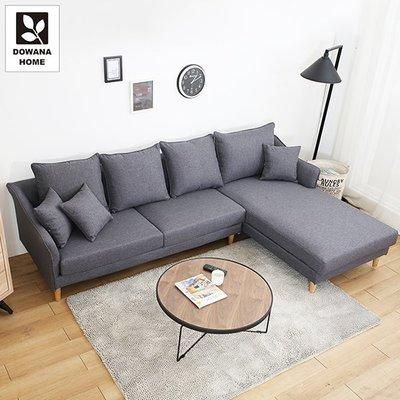 【多瓦娜】多米尼克鐵灰色L型沙發-16...