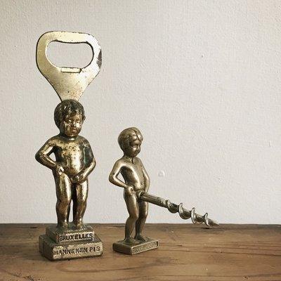 (年代秀)已讓藏~早期比利時裸體天使開瓶器 尿尿小童 老件收藏