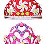 ♥粉紅豬的店♥手工 DIY EVA 皇冠 髮箍 髮圈 裝飾 裝扮 鑽石 亮片 頭飾 頭冠 派對 聚會 慶生 禮物-現貨