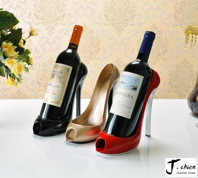 J.chien ~[全館免運]高跟鞋紅酒架 紅酒架 客廳酒櫃藝術品 華麗風 酒架 歐式華麗風 家居裝飾品 喬遷新居禮品