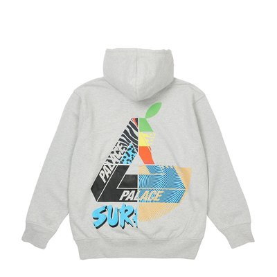 Palace Skateboard Mix Up Hood Grey Marl 連帽長袖T恤。太陽選物社