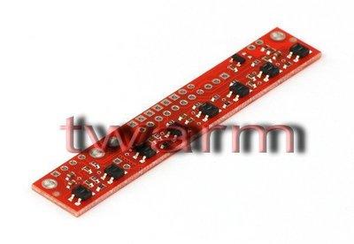《德源科技》r)QTR-8A 陣列循線感測器 類比輸出 Reflectance Sensor Array