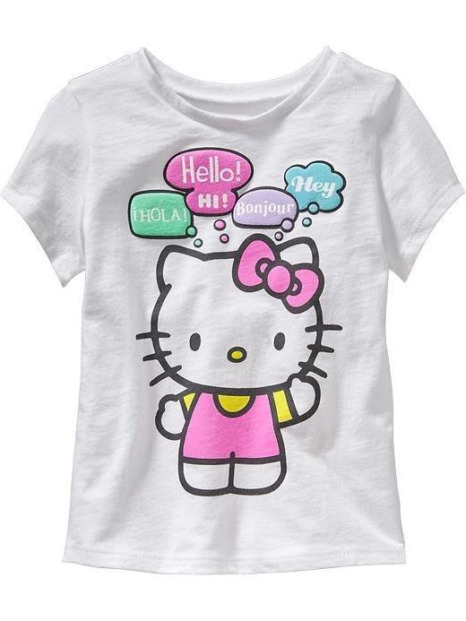 【Nichole's歐美進口優質童裝】Old Navy 女童Hello Kitty棉質短袖上衣*Carter's