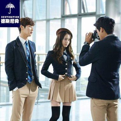 韩版继承者们同款校服套装 英伦学院风高中生长袖西装外套男女預購男生款或女生款一套價格尺寸顏色留言板說一下