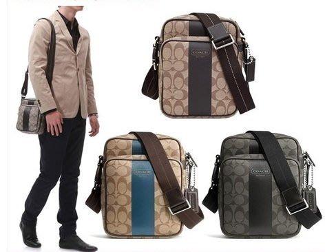 【COACH - 70589】100% 全新正品 經典款 C LOGO 超實用 斜背包 登機包 多功能背包 【三色選擇】