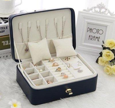首飾盒初行公主歐式收納盒雙層簡約首飾盒飾品盒耳環耳釘收納盒 晴天時尚館