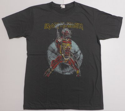 【Mr.17】Iron Maiden 鐵娘子 Somewhere On Tour 刷舊風搖滾短袖T恤 (BR062)