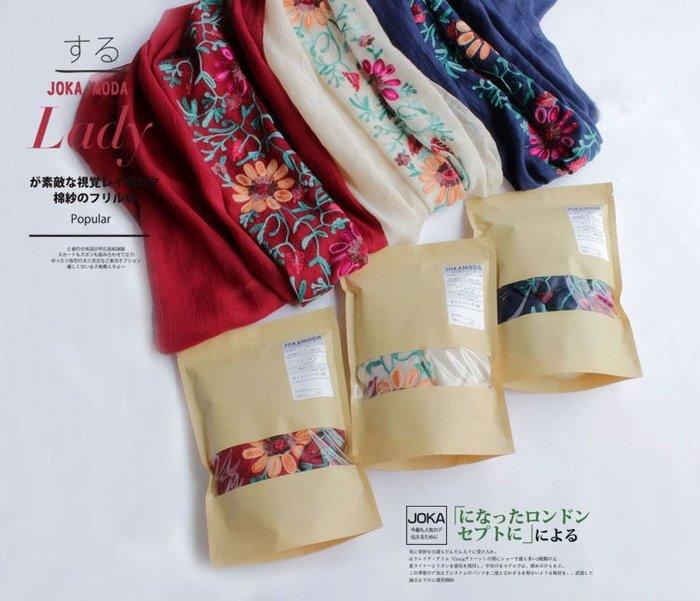 出清了!歐洲流行時尚品牌繡花超美大圍巾'三色可選