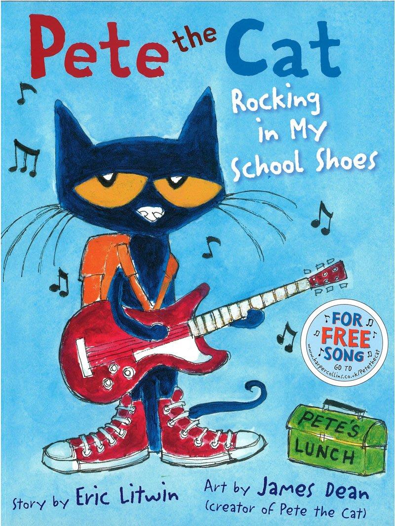*小貝比的家*PETE THE CAT ROCKING IN MY SCHOOL SHOSE/平裝+CD/3~6床邊故事