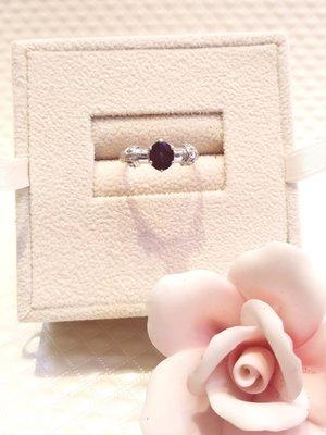 白K金天然藍寶石 后冠艷麗戒指【三民區寶麗金珠寶金品】