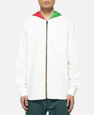 日本代購 CLOT TRI-COLOR HOOD ZIP UP LS SHIRT(Mona)