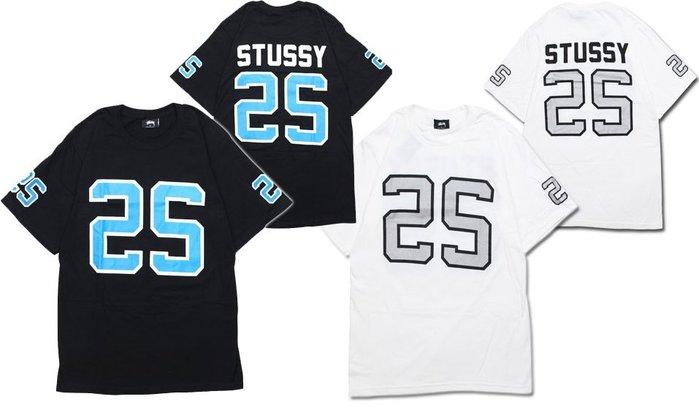 【超搶手】全新正品 最新款 STUSSY SS JERSEY TEE 球衣字體 黑白灰S M L XL XXL