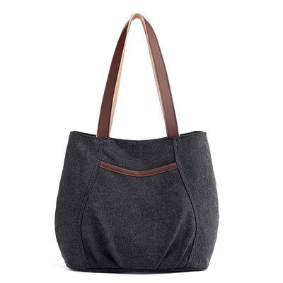 手提包帆布肩背包-大容量簡約休閒耐磨女包包5色73wa15[獨家進口][米蘭精品]