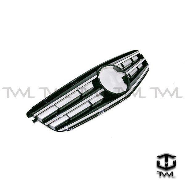 《※台灣之光※》全新 賓士 benz  W204跑車款式 Avantgarde C300大星黑色水箱罩 附大星 台灣製造
