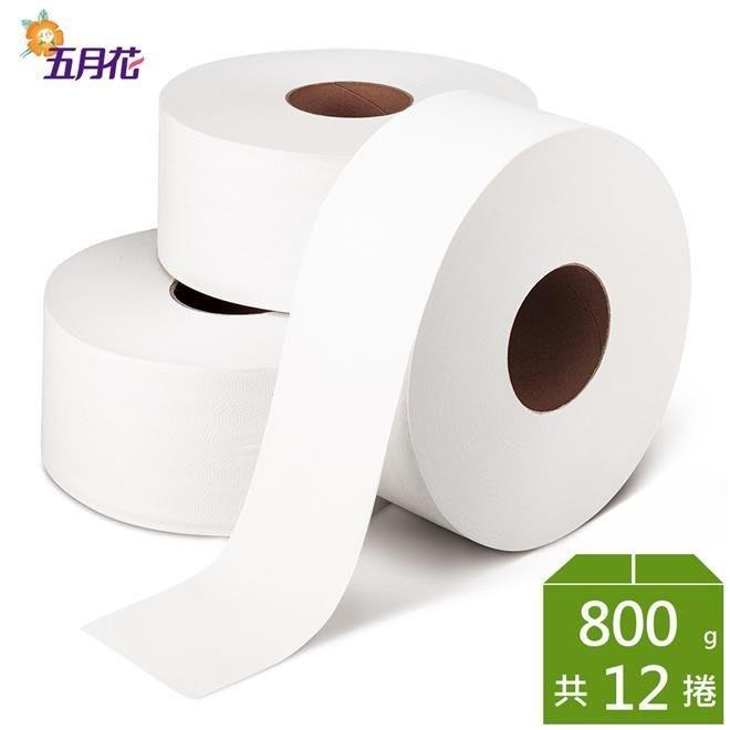 【永豐餘】五月花 大捲筒 衛生紙 800g*3捲*4袋-有花