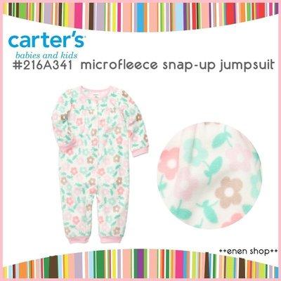 Enen Shöp @Carter's 可愛花朵款保暖連身衣 #216A341  ∥ 24M  **零碼出清**