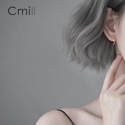 FAINO s925銀打結不對稱耳釘簡約個性創意學生耳環韓國2019新款潮耳飾女