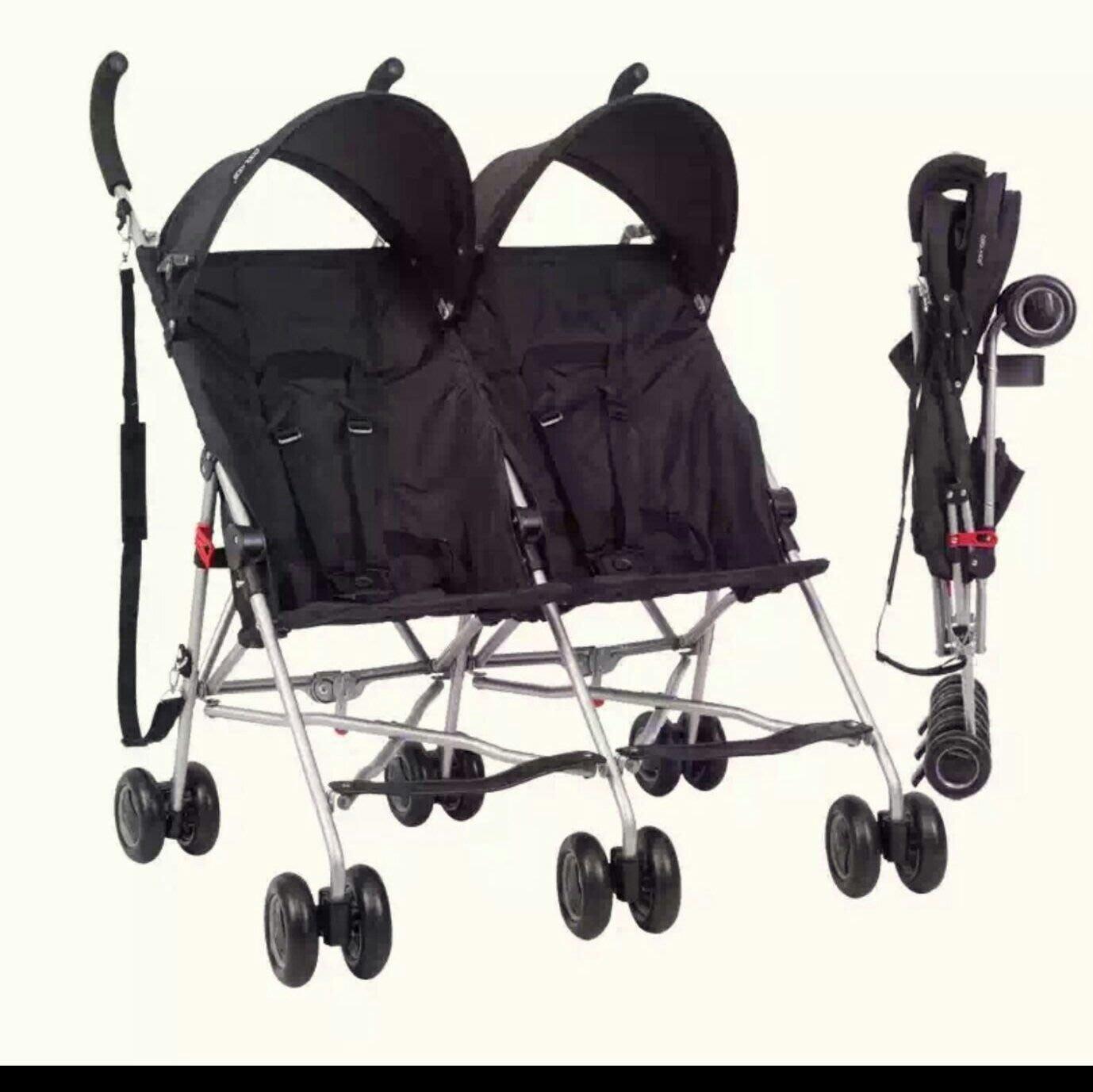 現貨全新超輕便 雙胞胎推車傘車正品Cool kids 日本品牌 4.9公斤 雙人大小寶推車 免費送雨罩 旅行外出專用傘車