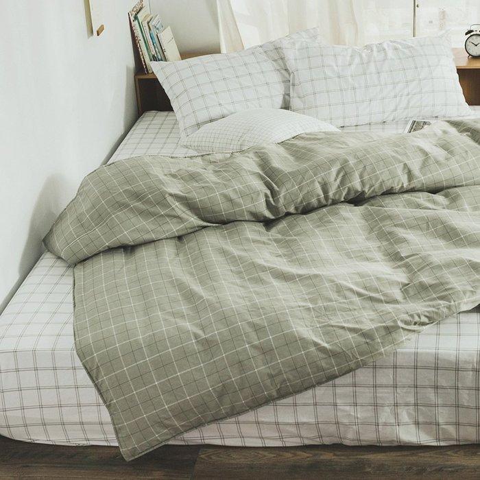 MIT精梳純棉鋪棉兩用被套-6*7尺【越格子】-絲薇諾
