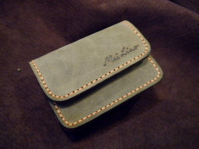 KH手工皮革工作室 MIT全手工雙層零錢證件包小皮夾信用卡鈔票名片證件悠遊卡門卡可收納天然牛皮量身訂作配色自選免費燙字