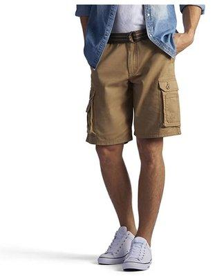 【美國Levis專賣】送鐵環腰帶LEE Dungarees Cargo 重磅 黃土色立體口袋短褲29-42腰優惠501