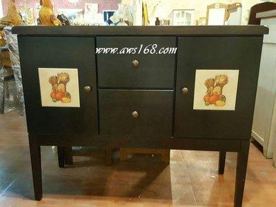磁磚實木備餐櫃