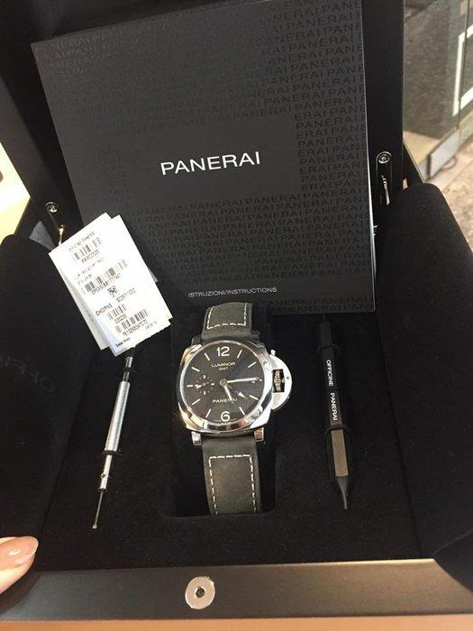 典精品名店 Panerai 沛納海 LUMINOR GMT PAM00535 42mm 腕錶 手錶 經典款 現貨