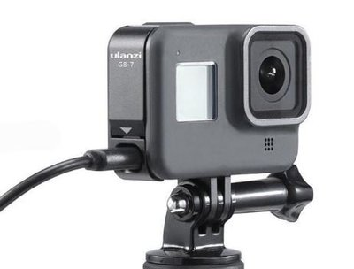 富豪相機G8-7 Ulanzi GoPro Hero 8 專用替換 充電電池蓋 可外接電源