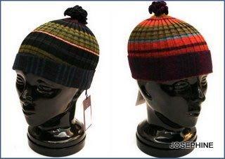喬瑟芬【CATHERINE ANDRE'】特價$4000~2010'秋冬羊駝毛艷彩毛線帽(2色))~全新真品!