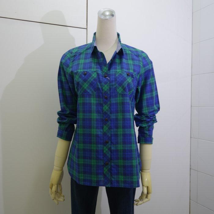 ☆注目のBURBERRY BLUE LABEL 秋冬新款綠藍格紋小騎士logo長袖襯衫☆