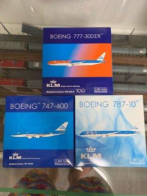 PH1:400 荷蘭航空100週年 B777/B787/B747 一套3架 已絕版 僅此一套