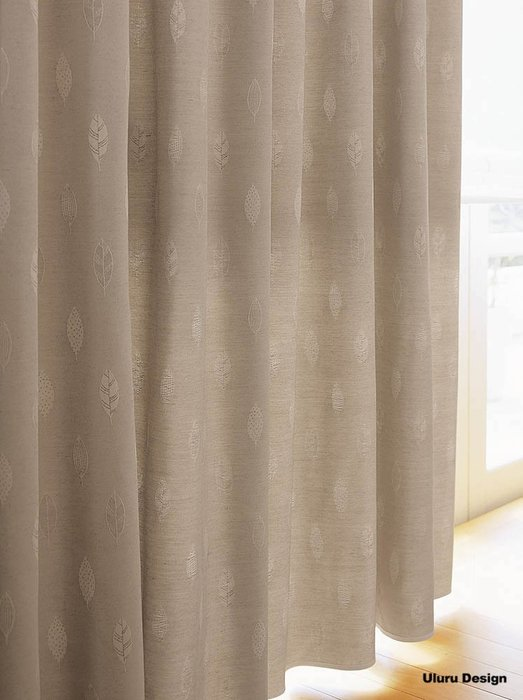 【Uluru】日本窗簾布藝.日式簡約 (2色) 剌鏽 葉子訂製窗簾 捲簾 羅馬簾 蛇型簾 美式鄉村