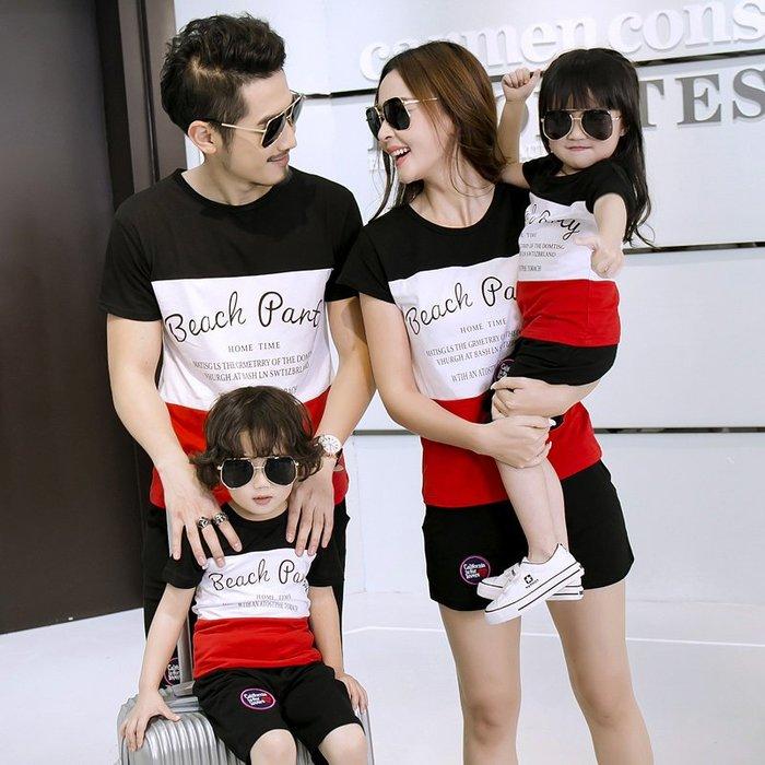 親子裝 短袖T恤一家三口全家裝 母子母女裝 家庭裝—莎芭