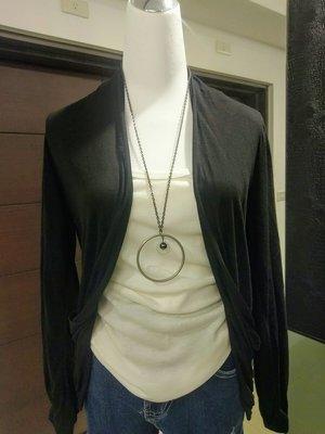 琳達購物中心-實品拍攝-秋裝棉質百搭開衫薄外套-黑色灰色2件320元
