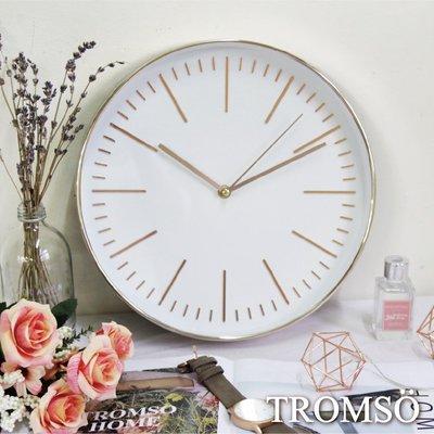 TROMSO紐約時代玫瑰金靜音時鐘-簡...