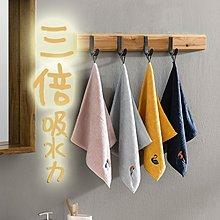 北歐 動物刺繡 可掛式 小毛巾 毛巾 方巾 吸水毛巾 擦手巾 珊瑚絨材質【ZACH & VIVI 】
