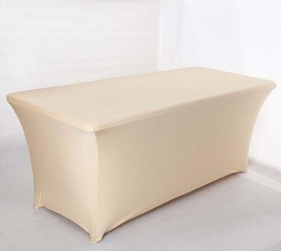 居家家飾設 特價-會議桌桌套-適用60*180*h:74cm 棉感牛奶絲彈性布(薄/有光) 清洗方便可烘乾 免熨燙!