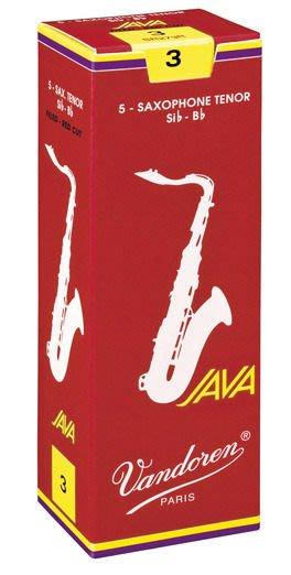§唐川音樂§【Vandoren Java Red Tenor Reeds 薩克斯風 次中音 Java 紅盒 竹片 5片裝】(法國)