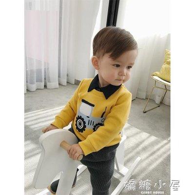 辰辰媽嬰童裝一歲男童寶寶秋冬加絨衛衣貼布繡幼童打底衫上衣