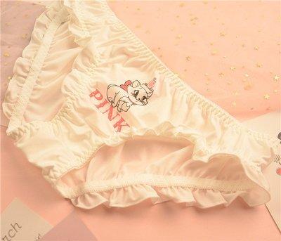 舒適可愛軟萌治愈系可愛點點草莓貓香蕉北極熊印花飛邊木耳低腰女內褲